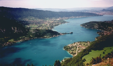 Looking towards Annecy from Montmin take off